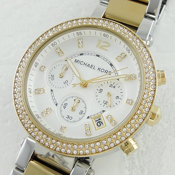 マイケルコース 時計 レディース 腕時計 パーカー クロノグラフ ツートーン MK5626 ビジネス 女性 ブランド 時計 誕生日 お祝い プレゼント ギフト お洒落