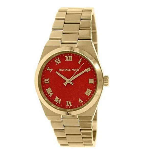 【キャッシュレス5%還元】マイケルコース 時計 メンズ レディース Channing チャニング ブラッドオレンジ ゴールド MK5936 ビジネス 男性 女性 ユニセックス ブランド 誕生日 お祝い プレゼント ギフト
