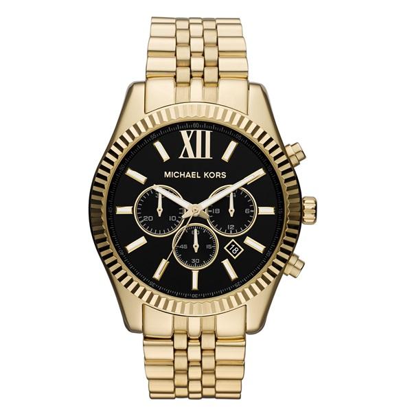 マイケルコース 時計 レディース ラージ レキシントン クロノグラフ デイカレンダー ブラック ゴールド MK8286 ビジネス 女性 ブランド 誕生日 お祝い プレゼント ギフト お洒落