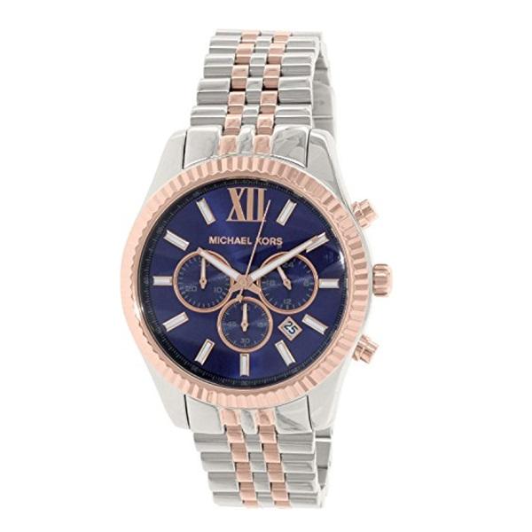 マイケルコース 時計 腕時計 メンズ レキシントン クロノグラフ デイカレンダー ブルー シルバー MK8412 ビジネス 女性 ブランド 誕生日 お祝い プレゼント ギフト お洒落