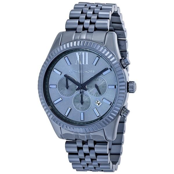 マイケルコース 時計 メンズ 腕時計 レキシントン クロノグラフ ネイビー ステンレス MK8480 ビジネス 男性 ブランド 誕生日 お祝い プレゼント ギフト お洒落