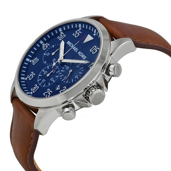 マイケルコース 時計 メンズ 腕時計 ガージュ クロノグラフ ブラウン レザー MK8362 ビジネス 男性 ブランド 誕生日 お祝い プレゼント ギフト お洒落