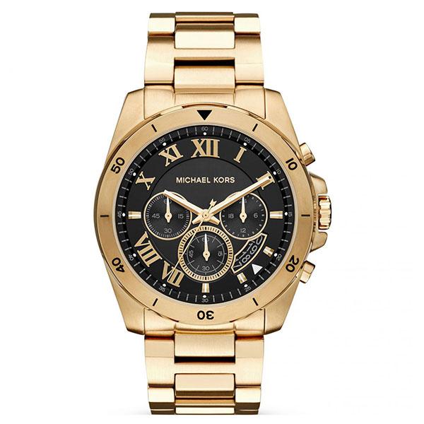 マイケルコース 時計 メンズ 腕時計 BRECKEN ブレッケン クロノグラフ ブラック文字盤 ゴールド ステンレス MK8481 ビジネス 男性 ブランド 誕生日 お祝い プレゼント ギフト お洒落