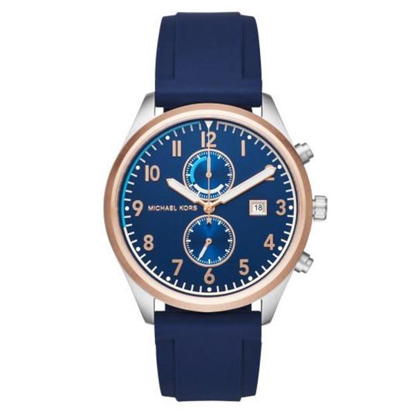 マイケルコース 時計 メンズ 腕時計 42mm クロノグラフ ネイビー ラバー MK8573 ビジネス 男性 ブランド 誕生日 お祝い プレゼント ギフト お洒落