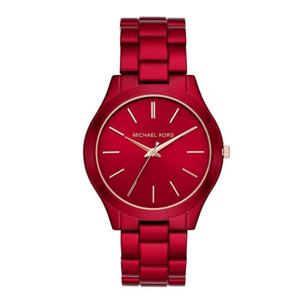 マイケルコース 時計 メンズ レディース ユニセックス 男女兼用 腕時計 Runway ランウェイ ピンクゴールド レッド ステンレス MK3895 ビジネス 男女 ブランド 誕生日 お祝い プレゼント ギフト