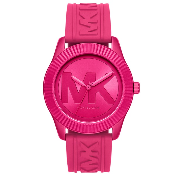マイケルコース 時計 メンズ レディース 腕時計 Maddye ビッグ MKロゴ シリコンストラップ ぴんく とけい まいけるこーす MK6803 ビジネス 男女 ブランド 誕生日 お祝い プレゼント ギフト
