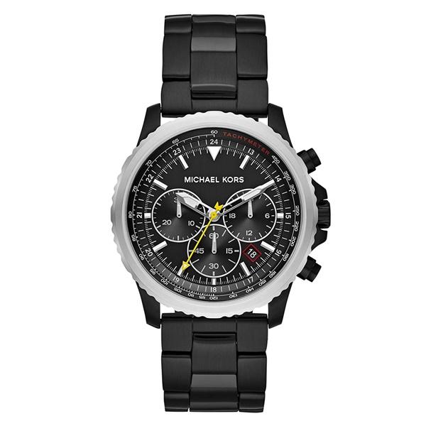 マイケルコース MK メンズ 腕時計 セロー 男性用 45ミリ クロノグラフ オールブラック 黒 ステンレス MK8643 ビジネス 男性 ブランド 誕生日 お祝い プレゼント ギフト