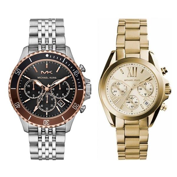 MICHAEL KORS マイケルコース 腕時計 ペアウォッチ クロノ メンズ レディース 時計 シルバー ゴールド ペアグッツ ペアアクセ MK8725MK5798 ブランド カップル 男女 ペアセット 誕生日 お祝い プレゼント ギフト