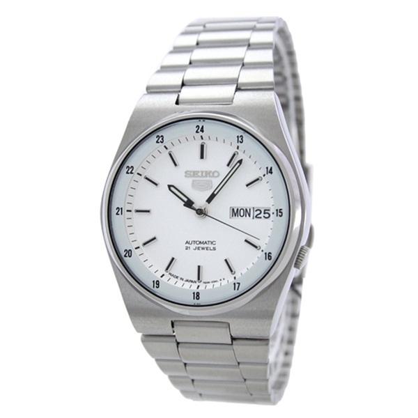 逆輸入 セイコー 時計 メンズ 腕時計 SEIKO5 セイコー5 35mm ホワイト文字盤 シルバー ステンレス 自動巻き 機械式 SNXM17J5 ビジネス 男性 ブランド 時計 【仕事用】 誕生日 お祝い プレゼント ギフト お洒落