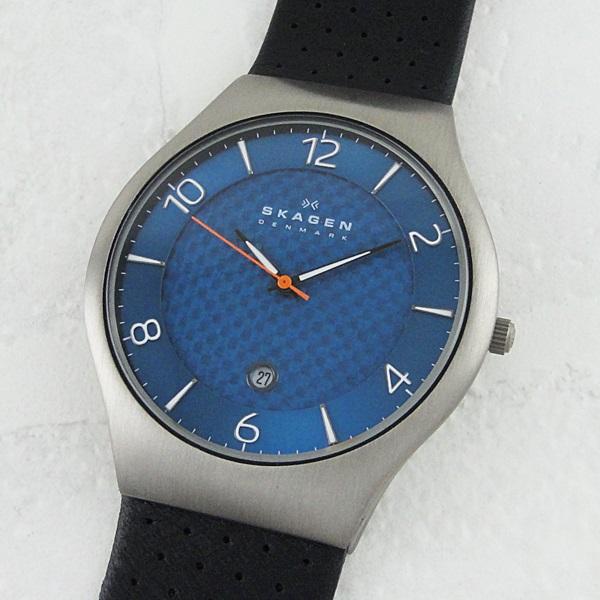 1本限り 希少モデル スカーゲン 時計 メンズ 腕時計 クラシック ブルー文字盤 ブラックレザー SKW6148 ビジネス 男性 ブランド 時計 【仕事用】 誕生日 お祝い プレゼント ギフト お洒落