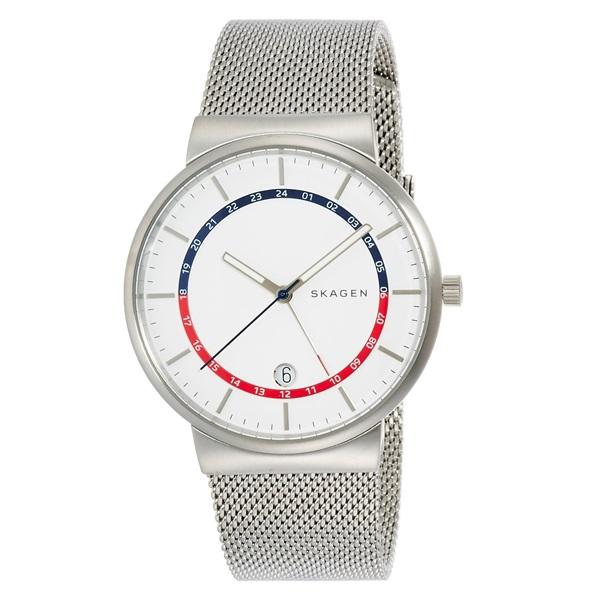 スカーゲン 時計 メンズ 腕時計 クオーツ ANCHER アンサー カレンダー セカンドタイム シルバー ホワイト文字盤 ステンレスシルバーブレスレット SKW6251 誕生日 お祝い プレゼント ギフト お洒落