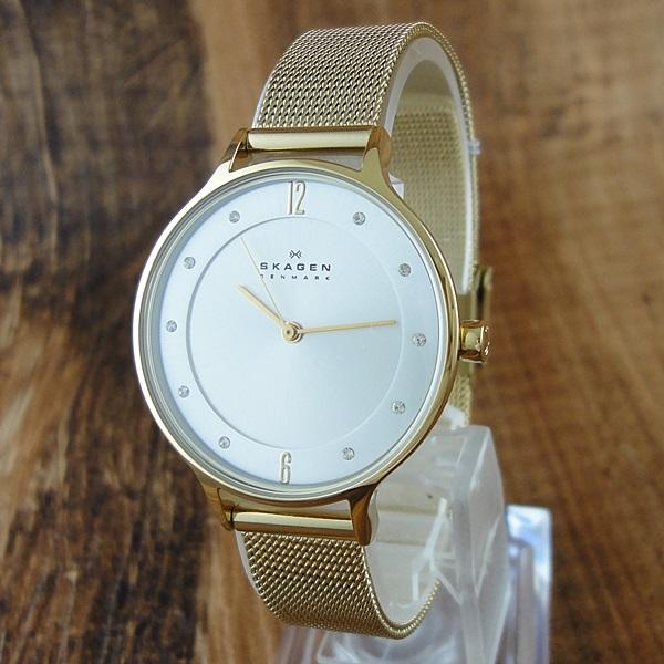 スカーゲン 時計 レディース 腕時計 スワロフスキー イエローゴールド SKW2150 ビジネス 女性 ブランド 誕生日 お祝い クリスマスプレゼント ギフト お洒落