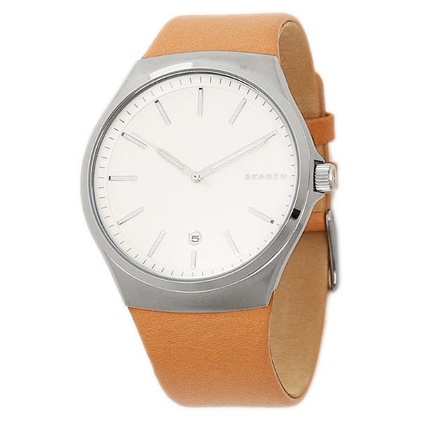 スカーゲン 時計 メンズ 腕時計 サンドバイ シルバー 文字盤 ブラウンレザー 革ベルト SKW6261 ビジネス 男性 ブランド 時計 【仕事用】 誕生日 お祝い プレゼント ギフト お洒落
