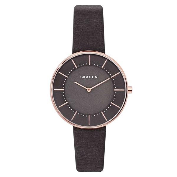 新作 スカーゲン 時計 レディース 腕時計 Gitte ローズゴールド グレーレザー SKW2613 ビジネス 女性 ブランド 誕生日 お祝い プレゼント ギフト お洒落