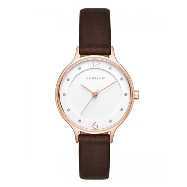 スカーゲン 時計 レディース 腕時計 アニタ ローズゴールド ブラウン レザー クリスタル SKW2472 ビジネス 女性 ブランド 誕生日 お祝い プレゼント ギフト お洒落