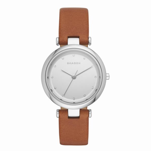 新作 スカーゲン 時計 レディース 腕時計 ターニャ ブラウン レザー SKW2458 ビジネス 女性 ブランド 誕生日 お祝い プレゼント ギフト お洒落