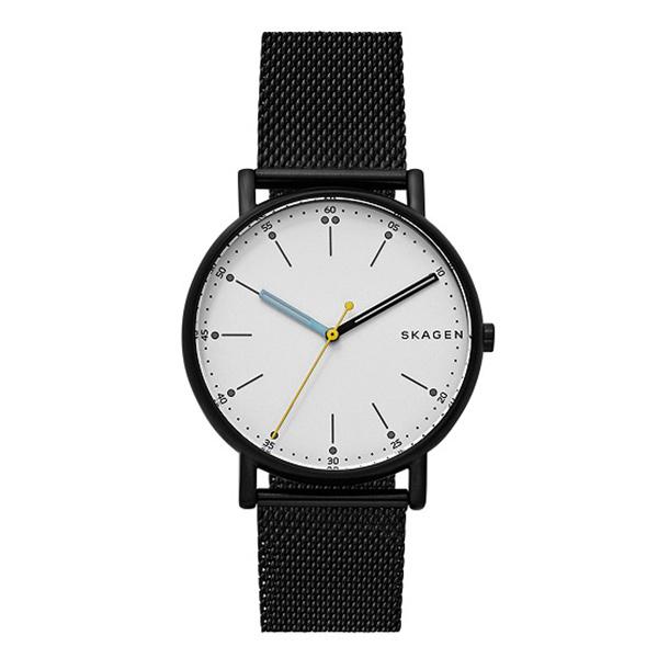 スカーゲン 時計 メンズ 腕時計 シグネチャー ブラック ステンレス SKW6376 ビジネス 男性 ブランド 誕生日 お祝い プレゼント ギフト お洒落