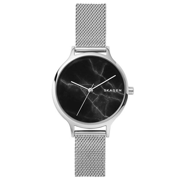 新作 スカーゲン 時計 レディース 腕時計 アニタ 34mm ブラック グラナイト シルバー メッシュ ステンレス SKW2673 ビジネス 女性 ブランド 誕生日 お祝い プレゼント ギフト お洒落