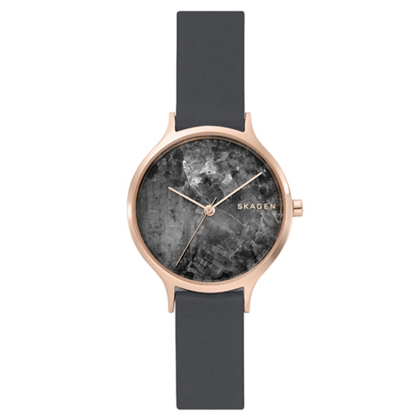 スカーゲン 時計 レディース 腕時計 アニタ 34mm ダークグレーグラナイト レザー SKW2672 ビジネス 女性 ブランド 誕生日 お祝い プレゼント ギフト お洒落
