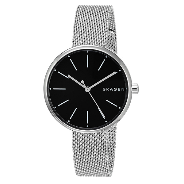 スカーゲン 時計 レディース 腕時計 シグネチャー ブラック文字盤 シルバー ステンレス SKW2596 ビジネス 女性 ブランド 誕生日 お祝い プレゼント ギフト お洒落