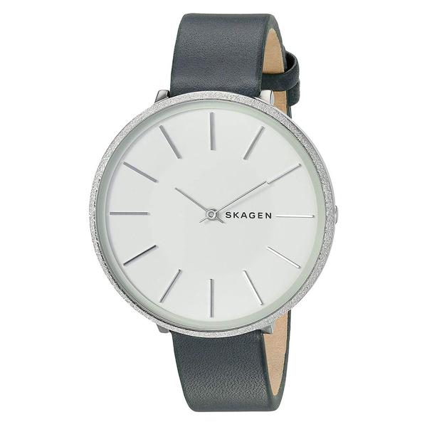 スカーゲン 時計 レディース 腕時計 KAROLINA カロリーナ シルバーケース グリーン レザー 革 SKW2724 ビジネス 女性 ブランド 誕生日 お祝い プレゼント ギフト お洒落