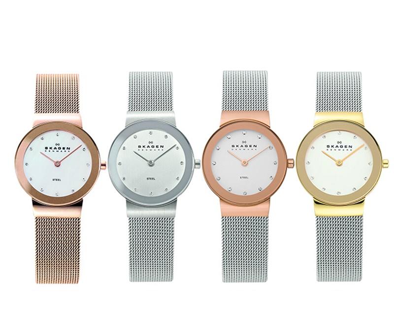 スカーゲン 時計 レディース 腕時計 スリム スワロフスキー 選べる4カラー 4color ビジネス 女性 ブランド 時計 誕生日 お祝い プレゼント ギフト