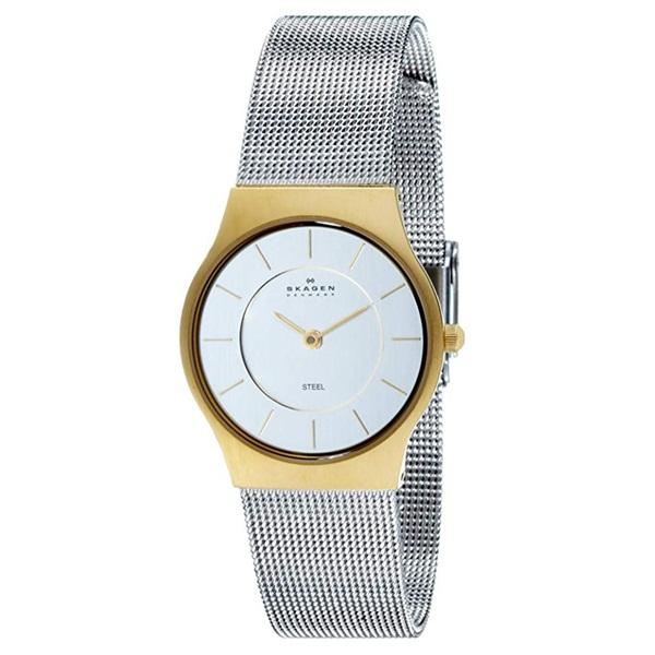 限定1本限り! スカーゲン 時計 レディース 腕時計 GRENEN グレーネン ゴールドケース シルバー メッシュ ステンレス 233SGS ビジネス 女性 ブランド 誕生日 お祝い プレゼント ギフト お洒落