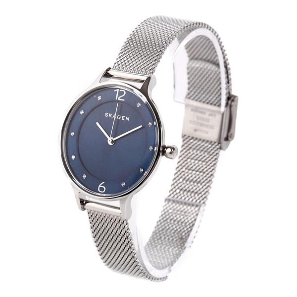 無料特典付き スカーゲン 時計 レディース 腕時計 アニタ ブルー文字盤 スワロフスキー シルバー SKW2307 ビジネス 女性 ブランド 誕生日 お祝い プレゼント ギフト お洒落