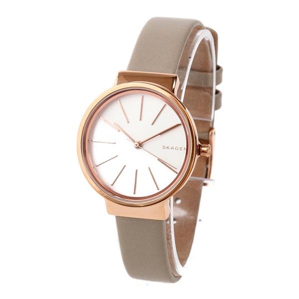 新作 スカーゲン 時計 レディース 腕時計 アンカー ベージュ レザー SKW2481 ビジネス 女性 ブランド 誕生日 お祝い プレゼント ギフト お洒落