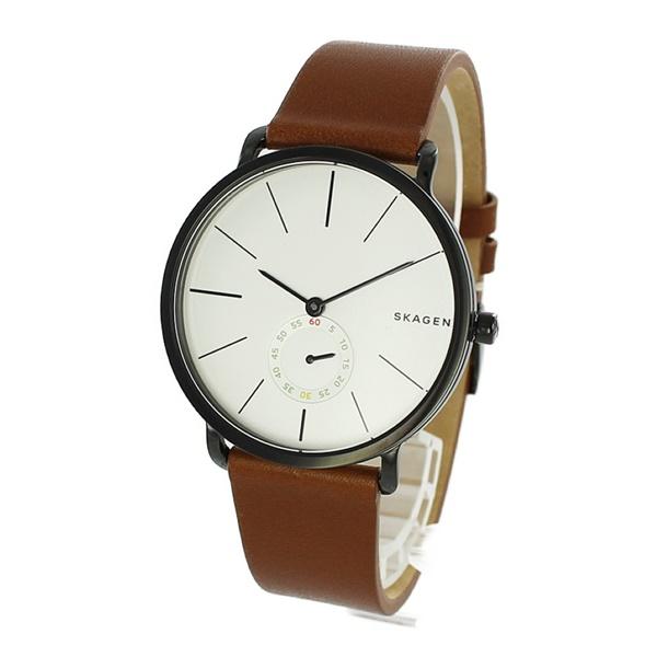 スカーゲン メンズ 腕時計 ハーゲン スモールセコンド ブラウン 革 レザー シンプル 北欧 デザイン SKW6216 ビジネス 彼氏 喜ぶ 誕生日 お祝い 記念日 男友達 大学生 社会人 プレゼント