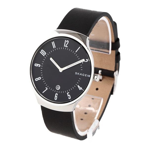 スカーゲン 時計 メンズ 腕時計 GRENEN グレーネン シルバーケース ブラック レザー SKW6459 ビジネス 男性 ブランド 誕生日 お祝い プレゼント ギフト お洒落