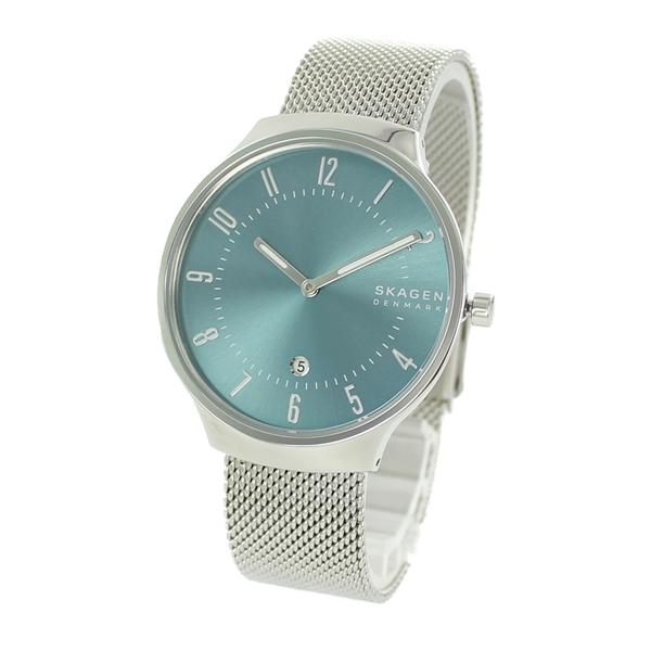 スカーゲン 腕時計 メンズ レディース 北欧 時計 グレーネン シンプル 薄型 スリム ライトブルー 水色 シルバー ユニセックス SKW6521 ビジネス 男性 女性 ユニセックス ブランド 時計 誕生日 お祝い プレゼント ギフト