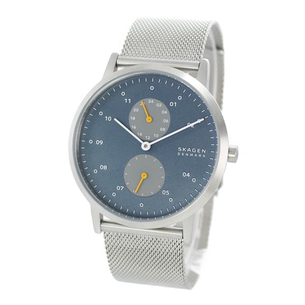 スカーゲン 腕時計 メンズ 北欧 時計 KRISTOFFER クリストファー シンプル 薄型 スリム ブルー文字盤 青色 シルバーメッシュ SKW6525 ビジネス 男性 女性 ユニセックス ブランド 時計 誕生日 お祝い プレゼント ギフト