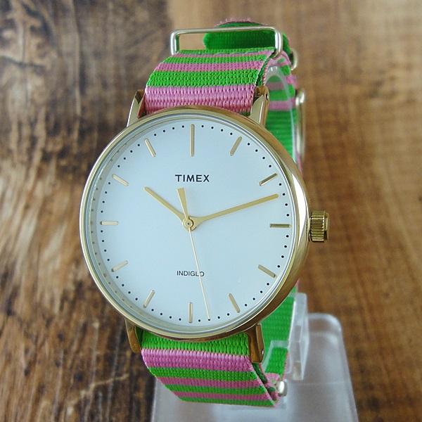 【キャッシュレス5%還元】国内正規品 タイメックス 時計 レディース 腕時計 ウィークエンダー フェアフィールド ピンク ボーダー TW2P91800 ビジネス 女性 ブランド 誕生日 お祝い プレゼント ギフト