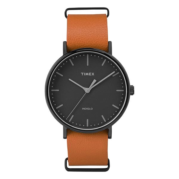 無料特典付き 国内正規品 タイメックス 時計 メンズ レディース ユニセックス 腕時計 ウィークエンダー ブラックケース オレンジ レザー TW2P91400 ビジネス 男性 女性 ブランド 誕生日 お祝い プレゼント ギフト お洒落