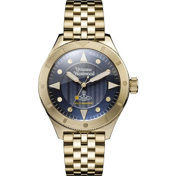 ヴィヴィアン ウエストウッド 時計 メンズ 腕時計 ネイビー文字盤 ゴールド ステンレス VV160NVGD ビジネス 男性 ブランド 誕生日 お祝い プレゼント ギフト お洒落