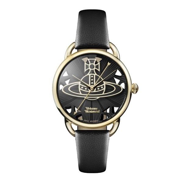 ヴィヴィアン ウエストウッド 時計 レディース 腕時計 ゴールド ブラック レザー VV163BKBK ビジネス 女性 ブランド 時計 誕生日 お祝い プレゼント ギフト お洒落