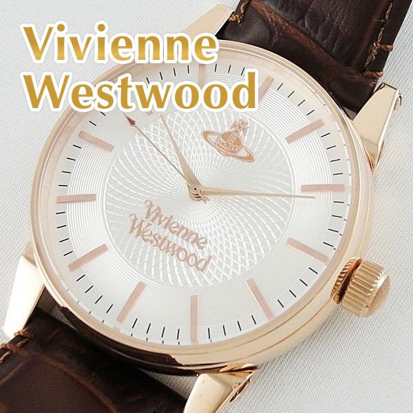 ヴィヴィアン ウエストウッド 腕時計 メンズ フィンズバリー ゴールド ブラウンレザー 革ベルト VV065RSBR ビジネス 男性 ブランド 時計 誕生日 お祝い プレゼント ギフト お洒落