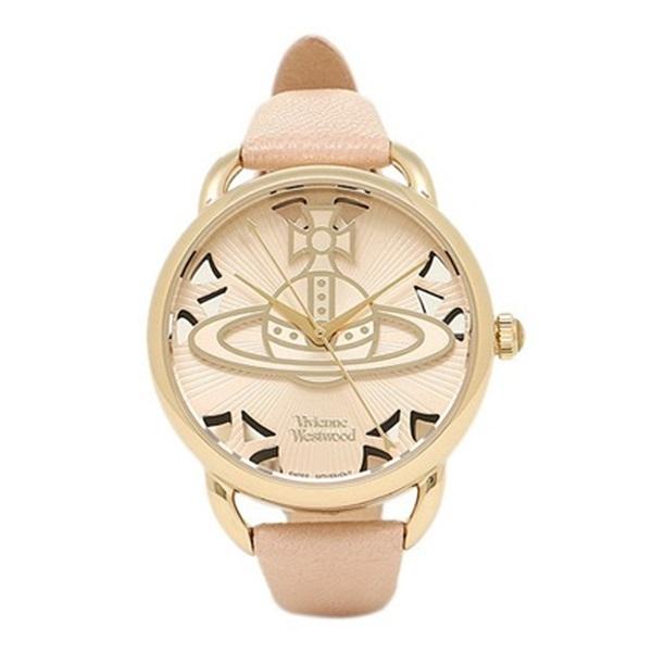 ヴィヴィアン ウエストウッド 時計 レディース 腕時計 ゴールド ピンクベージュ レザー VV163BGPK ビジネス 女性 ブランド 時計 誕生日 お祝い プレゼント ギフト