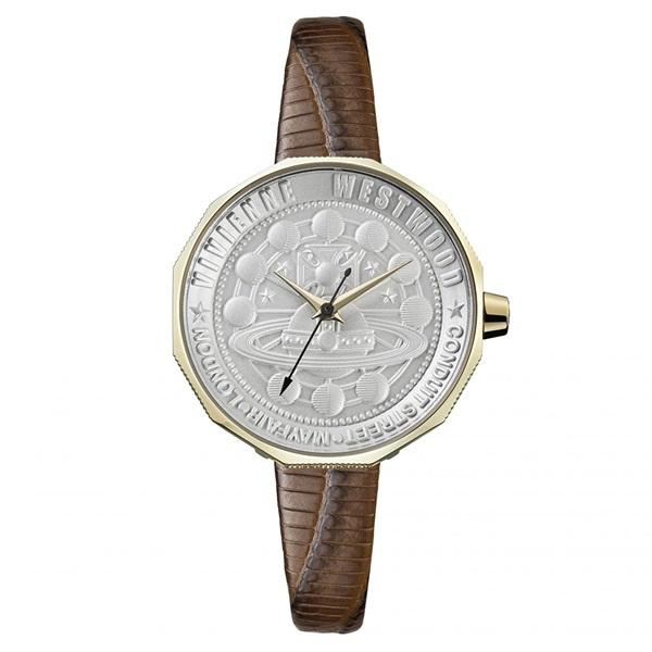 新作 ヴィヴィアン ウエストウッド 時計 レディース 腕時計 シルバー ブラウン レザー VV171GDBR ビジネス 女性 ブランド 時計 誕生日 お祝い プレゼント ギフト お洒落