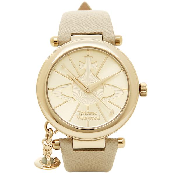 ヴィヴィアン ウエストウッド 時計 レディース 腕時計 オーブチャーム ゴールド クリーム レザー VV006GDCM ビジネス 女性 ブランド 時計 誕生日 お祝い プレゼント ギフト お洒落