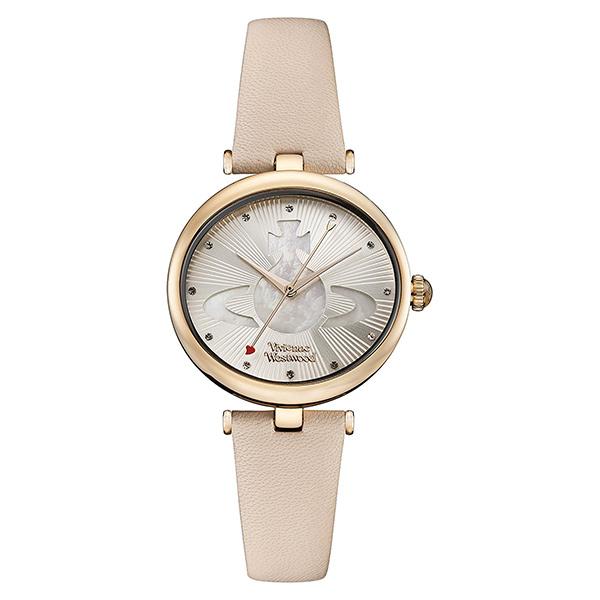【キャッシュレス5%還元】ヴィヴィアン ウエストウッド 時計 レディース 腕時計 オーブ ローズゴールドケース ライトピンク レザー VV184LPKPK ビジネス 女性 ブランド 時計 誕生日 お祝い プレゼント ギフト