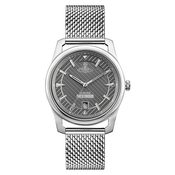 ヴィヴィアン ウエストウッド 時計 メンズ 腕時計 グレー文字盤 シルバー メッシュ ステンレス VV185GYSL ビジネス 男性 ブランド 時計 誕生日 お祝い クリスマスプレゼント ギフト お洒落