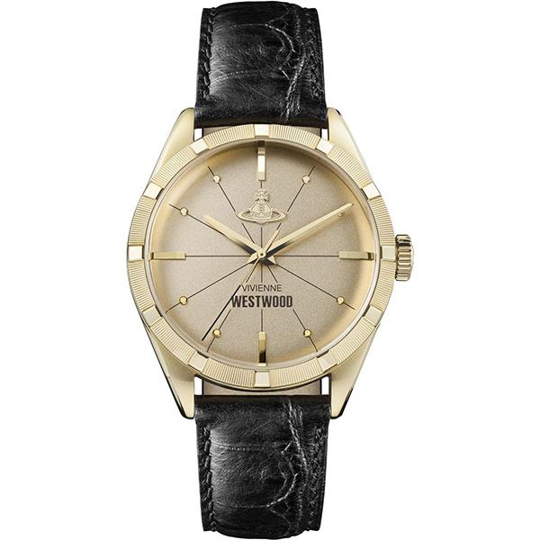 ヴィヴィアン ウエストウッド 時計 メンズ 腕時計 CONDUIT コンジット ゴールドケース ブラック レザー VV192GDBK ビジネス 男性 ブランド 誕生日 お祝い プレゼント ギフト お洒落