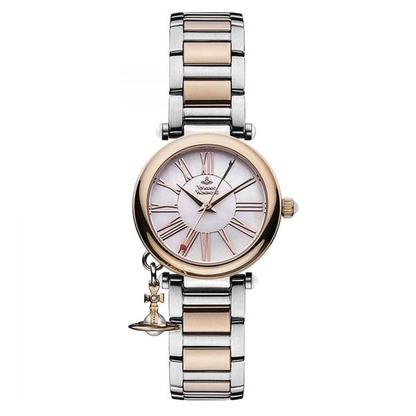 ヴィヴィアン ウエストウッド 時計 レディース 腕時計 オーブ チャーム付 シェル文字盤 ピンクゴールド シルバー ステンレス VV006PRSSL ビジネス 女性 ブランド 時計 誕生日 お祝い プレゼント ギフト お洒落