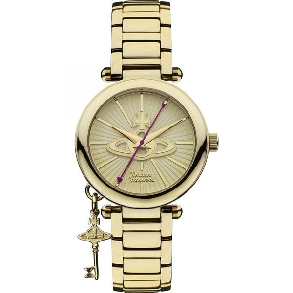 ヴィヴィアン ウエストウッド 時計 レディース 腕時計 オーブ チャーム付 ゴールド ステンレス VV006KGD ビジネス 女性 ブランド 時計 誕生日 お祝い プレゼント ギフト お洒落