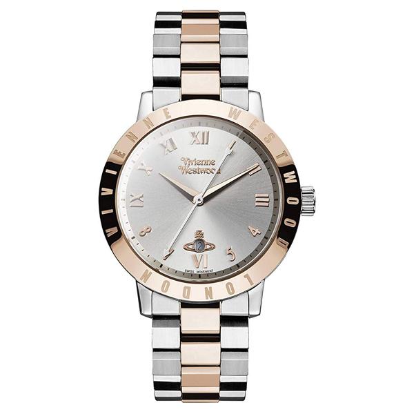ヴィヴィアン ウエストウッド 時計 レディース ボーイズサイズ 腕時計 BLOOMSBURY ブルームスベリー シルバー×ローズゴールド ステンレス VV152RSSL ビジネス 男性 女性 ブランド 時計 誕生日 お祝い プレゼント ギフト お洒落