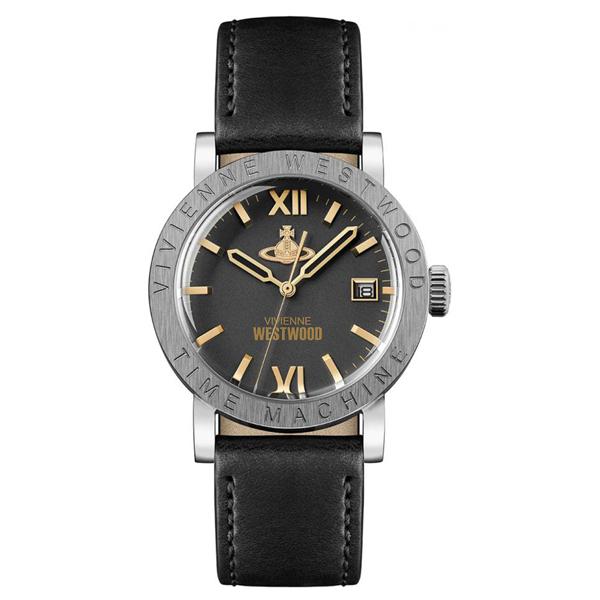 ヴィヴィアン ウエストウッド 時計 メンズ レディース 腕時計 THE KINGSGATE キングスゲート ブラック レザー VV203BKBK ビジネス 男性 女性 ブランド 時計 誕生日 お祝い プレゼント ギフト お洒落