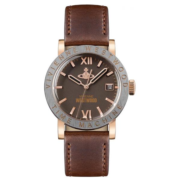 ヴィヴィアン ウエストウッド 時計 メンズ レディース 腕時計 THE KINGSGATE キングスゲート ローズゴールドケース ブラウン レザー VV203BRBR ビジネス 男性 女性 ブランド 時計 誕生日 お祝い プレゼント ギフト お洒落