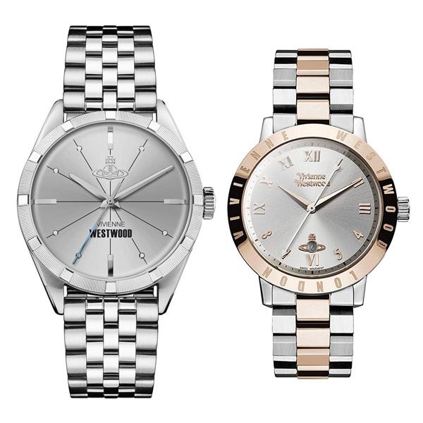 ヴィヴィアン ウエストウッド 時計 メンズ レディース ペアウォッチ 腕時計 コンジット/ブルームスベリー シルバー ローズゴールド ステンレス VV192SLSLVV152RSSL ペアセット カップル ブランド 誕生日 お祝い プレゼント ギフト